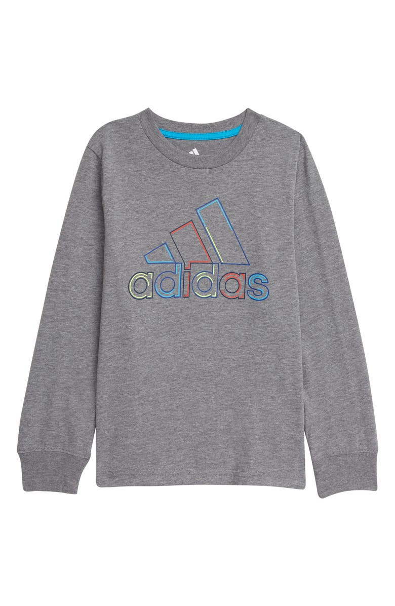 ADIDAS Kids' Dash Outline BOS Long Sleeve Graphic Tee, Main, color, 068