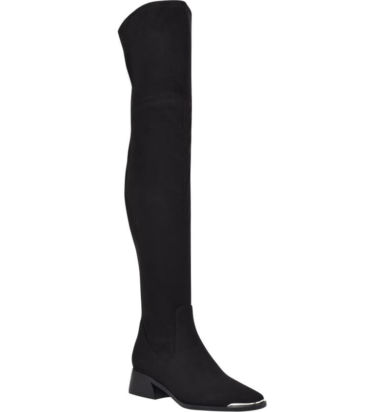 MARC FISHER LTD Darwin Over the Knee Boot, Main, color, BLACK FABRIC