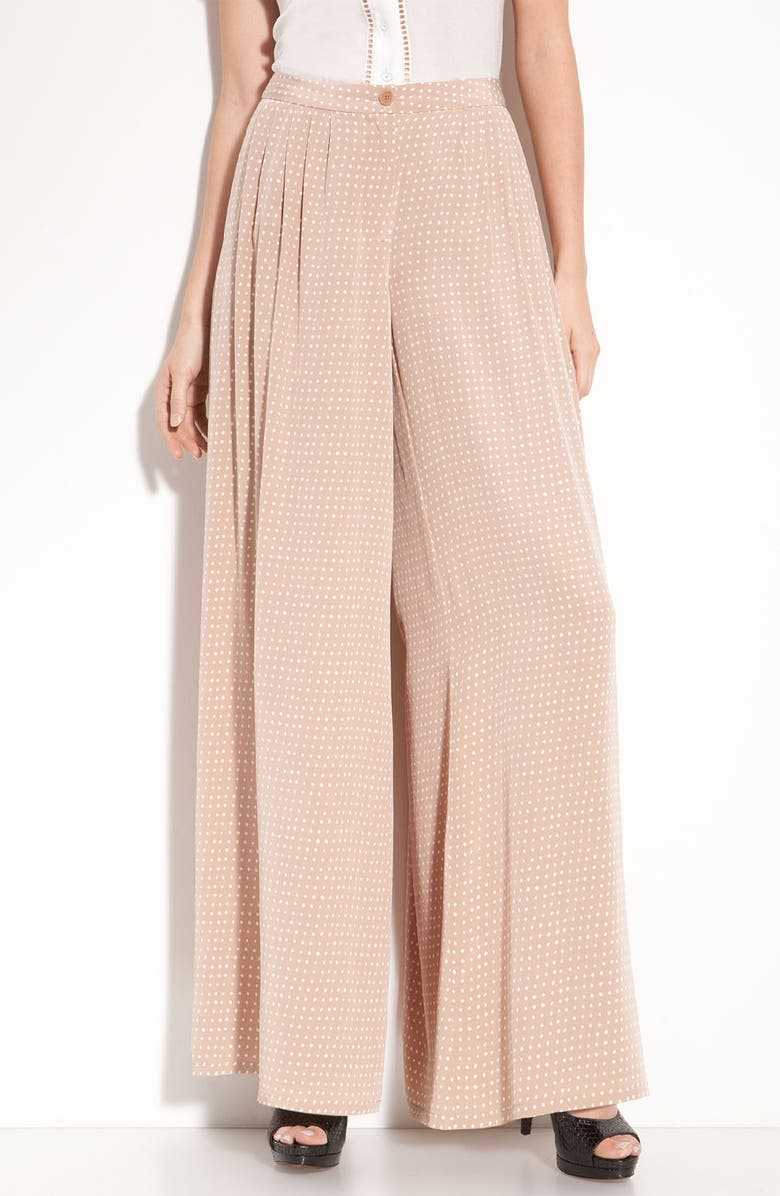 LEITH Pleated Silk Palazzo Pants, Main, color, 251