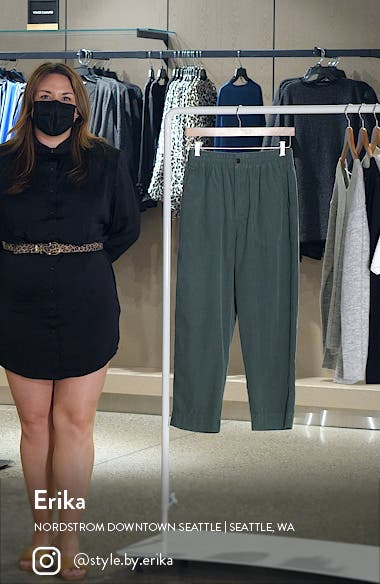 Huston Tapered Cotton Corduroy Pull-On Crop Pants, sales video thumbnail