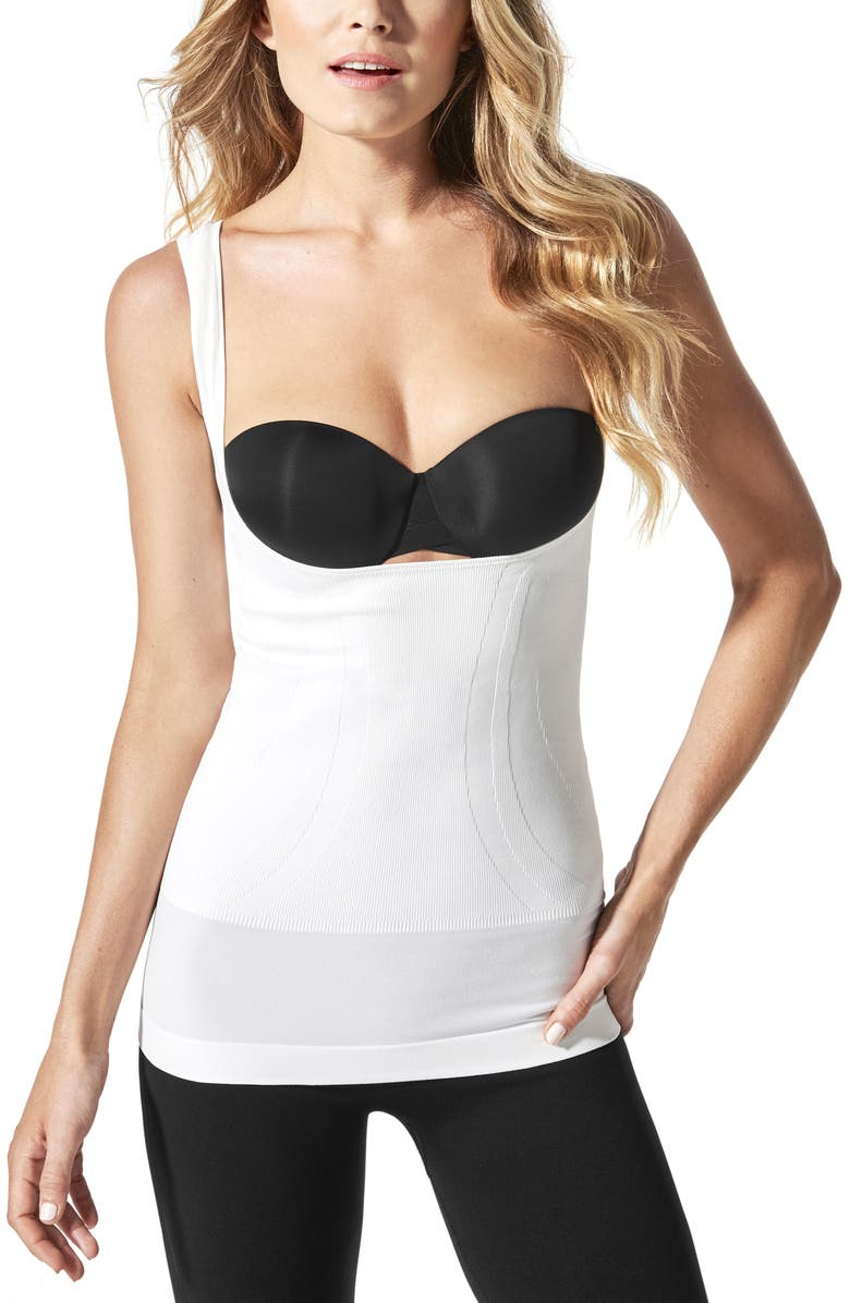 BLANQI Everyday Lift-Up Access Underbust Postpartum + Nursing Support Tank, Main, color, WINTER WHITE