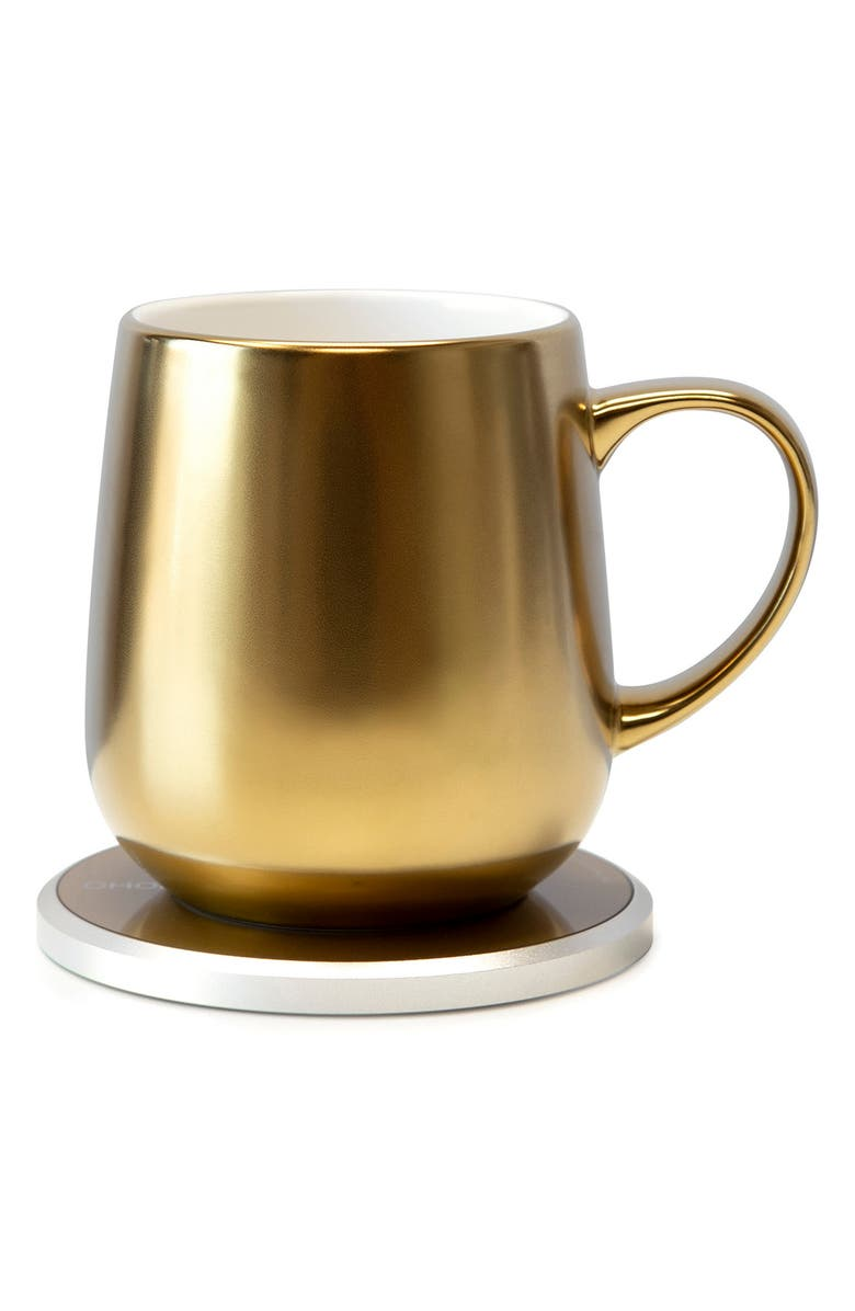 OHOM Ui Mug & Warmer Set, Main, color, Gold
