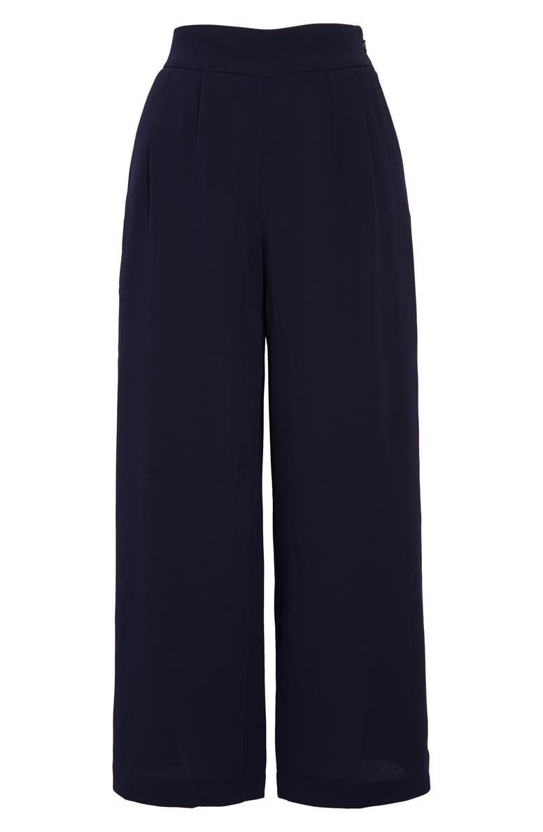 1.STATE Wide Leg Crepe Trousers, Main, color, BLUE NIGHT