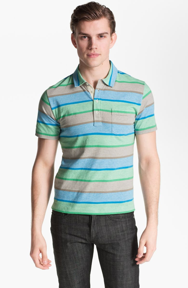 BILLY REID 'Pensacola' Trim Fit Stripe Polo, Main, color, 409