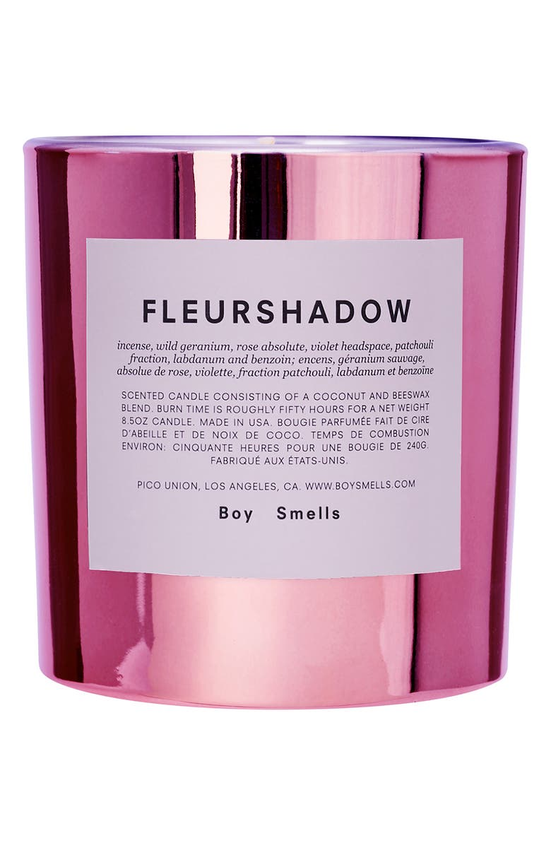 BOY SMELLS Hypernature Fleurshadow Scented Candle, Main, color, PINK