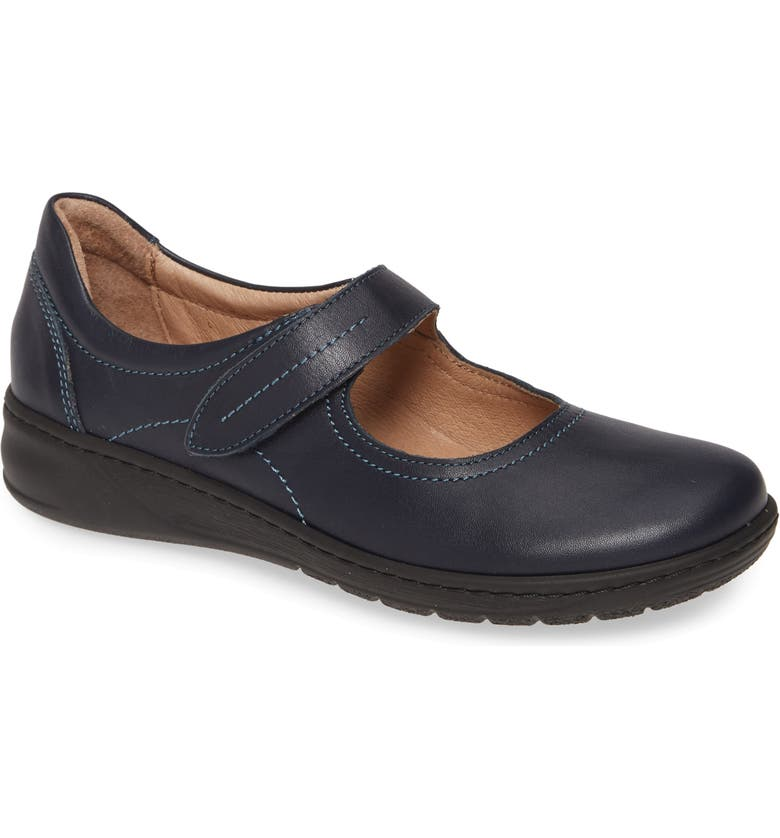 DAVID TATE Rosa Flat, Main, color, NAVY LEATHER