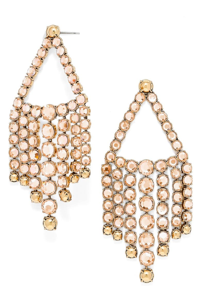 BAUBLEBAR 'Diana' Chandelier Earrings, Main, color, CHAMPAGNE/ ANTIQUE GOLD