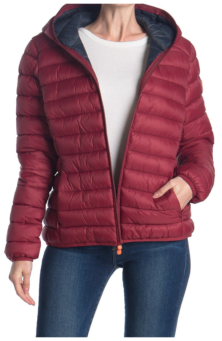SAVE THE DUCK Giga Midweight Jacket, Main, color, RUBY RED