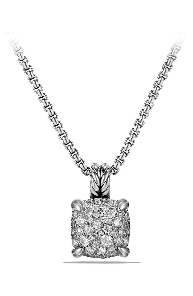 DAVID YURMAN Châtelaine Pendant Necklace with Diamonds, Main, color, Silver