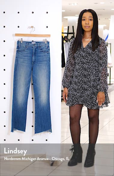 The Hustler Two Step Fray High Waist Ankle Bootcut Jeans, sales video thumbnail