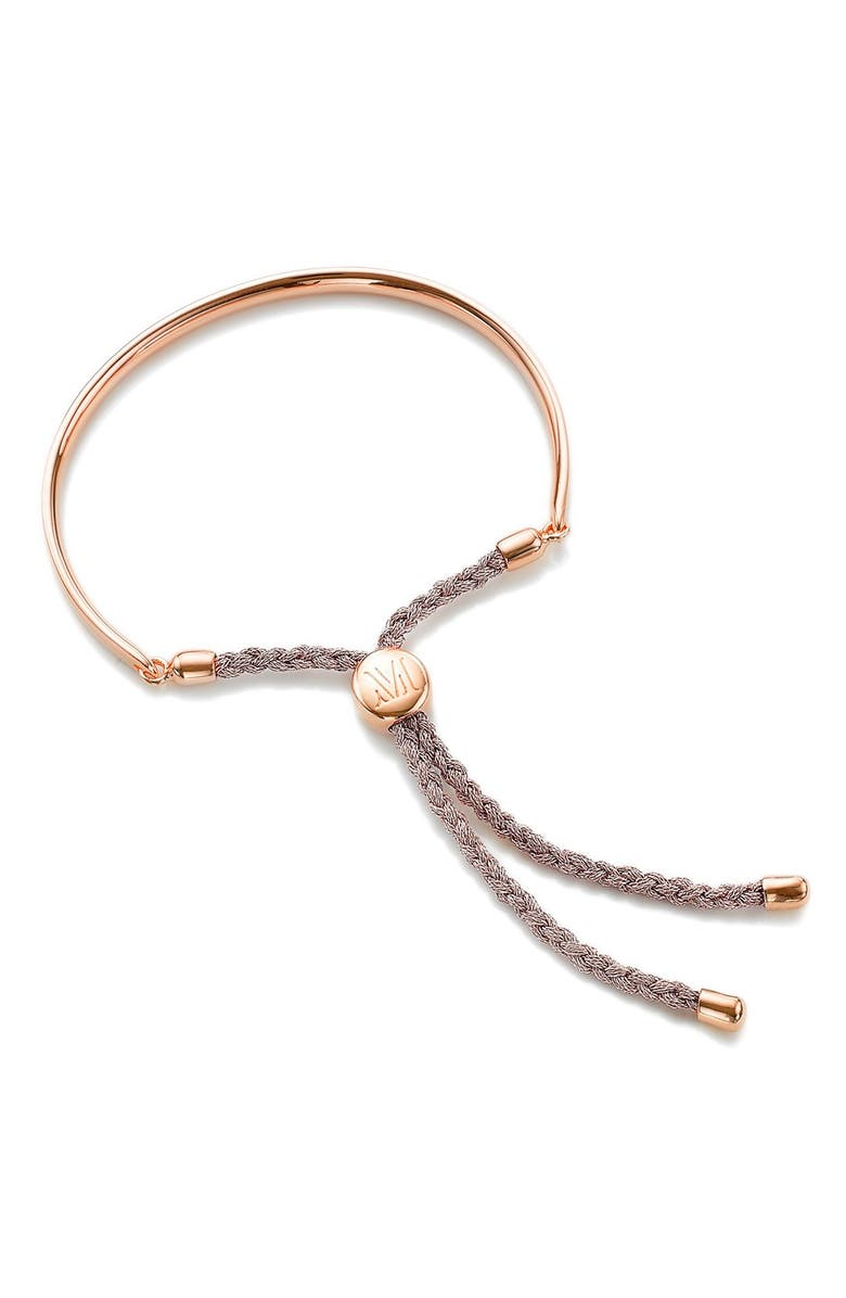 MONICA VINADER Engravable Fiji Friendship Bracelet, Main, color, ROSE GOLD/ ROSE