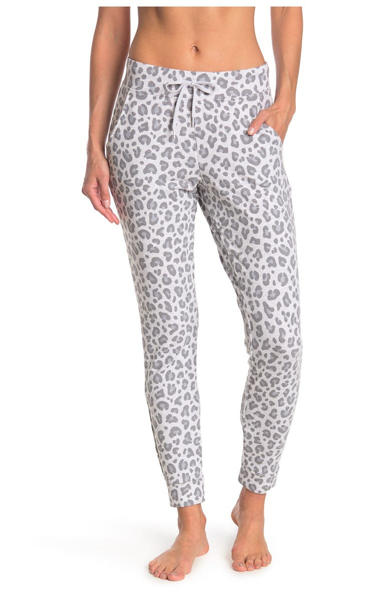 90 DEGREE BY REFLEX Side Pocket Joggers, Main, color, P653 LEOPARD GREY