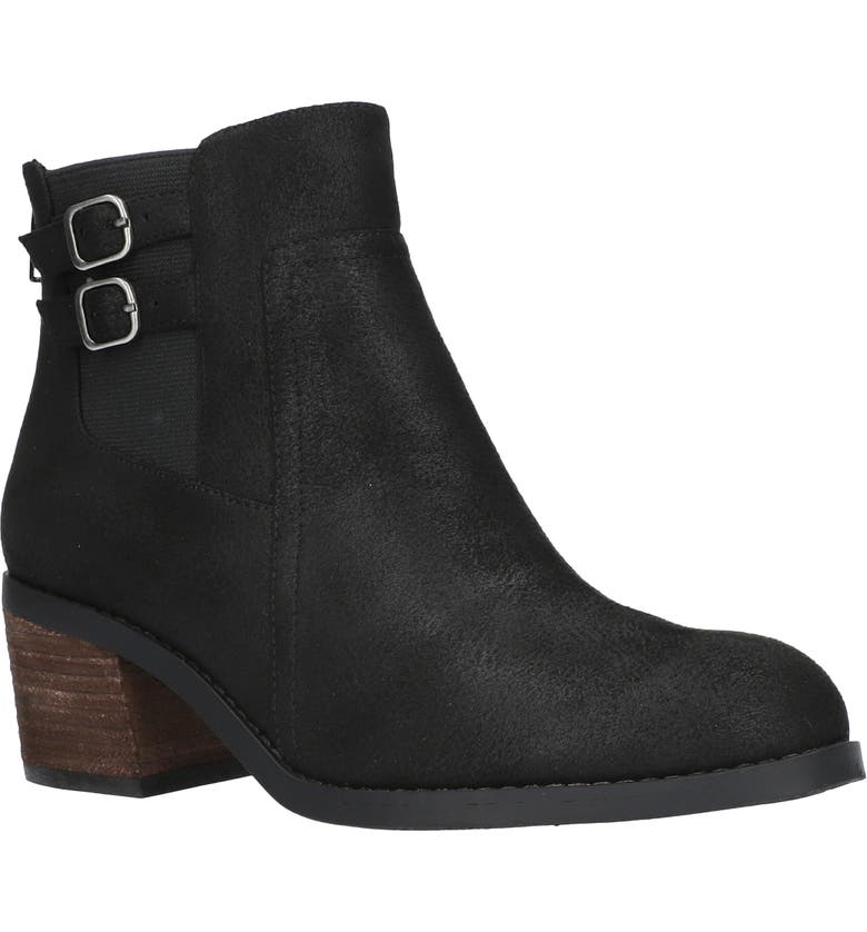BELLA VITA Merilyn Bootie, Main, color, BLACK FAUX LEATHER