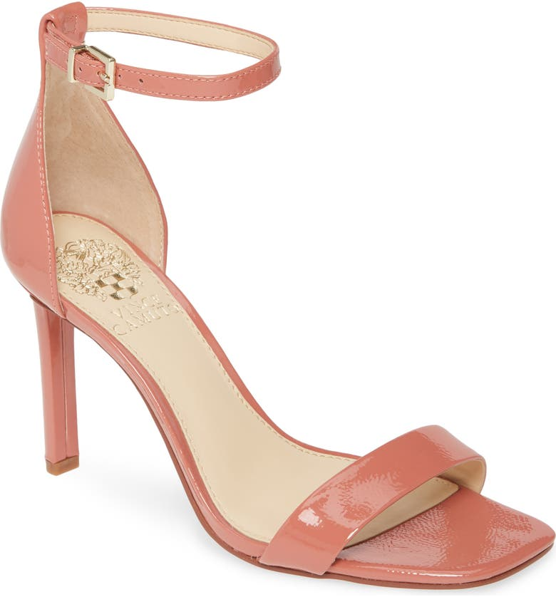 VINCE CAMUTO Lauralie Ankle Strap Sandal, Main, color, NECTAR PATENT LEATHER