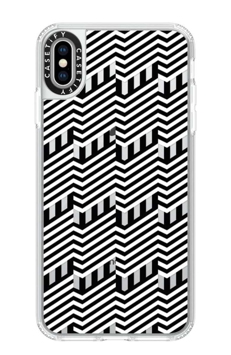 CASETIFY Building iPhone X/Xs Max & XR Plus Case, Main, color, BLACK/WHITE