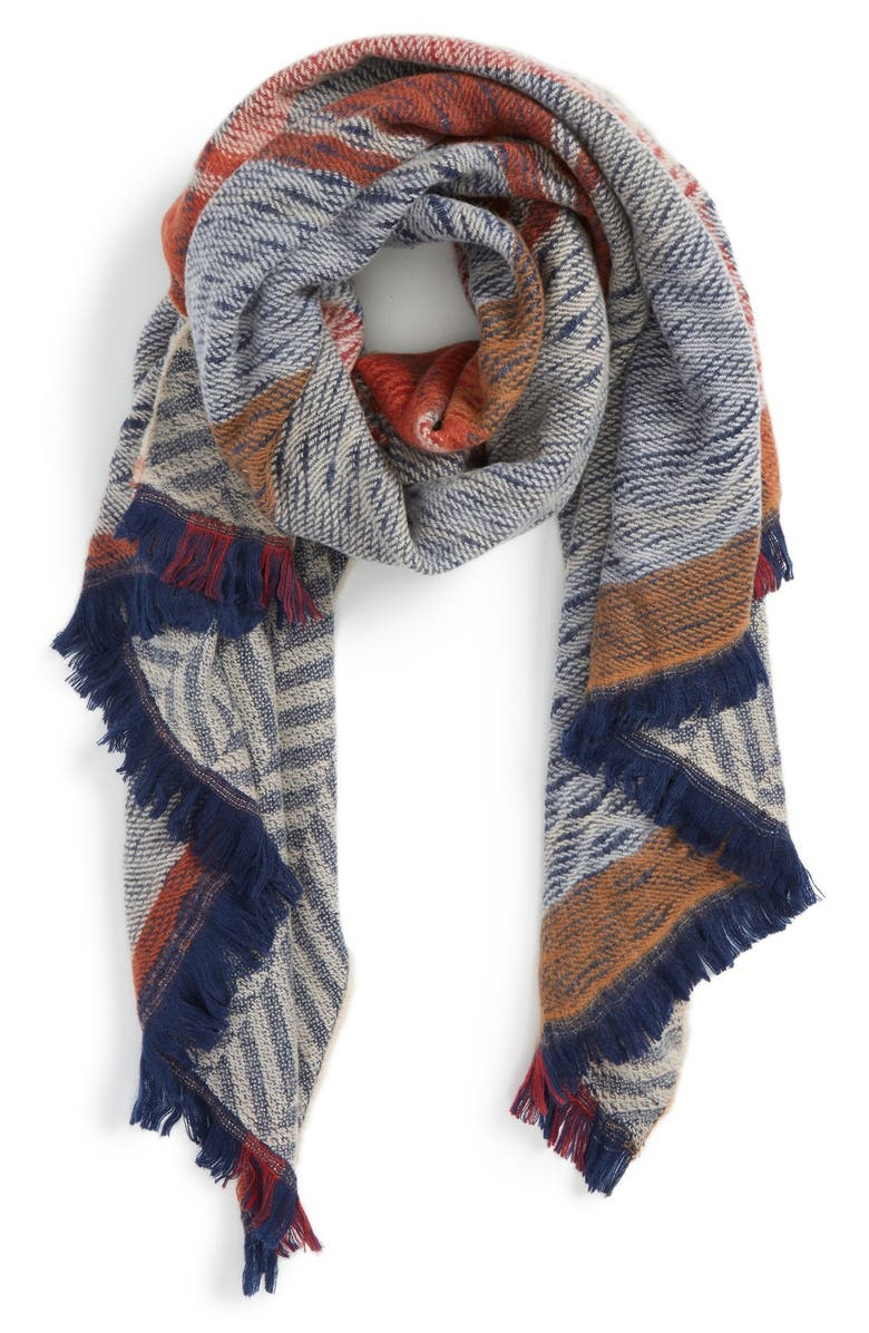 SOLE SOCIETY Reversible Blanket Scarf, Main, color, 400