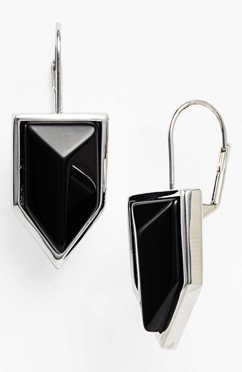 VINCE CAMUTO 'Clearview' Stone Drop Earrings, Main, color, 001