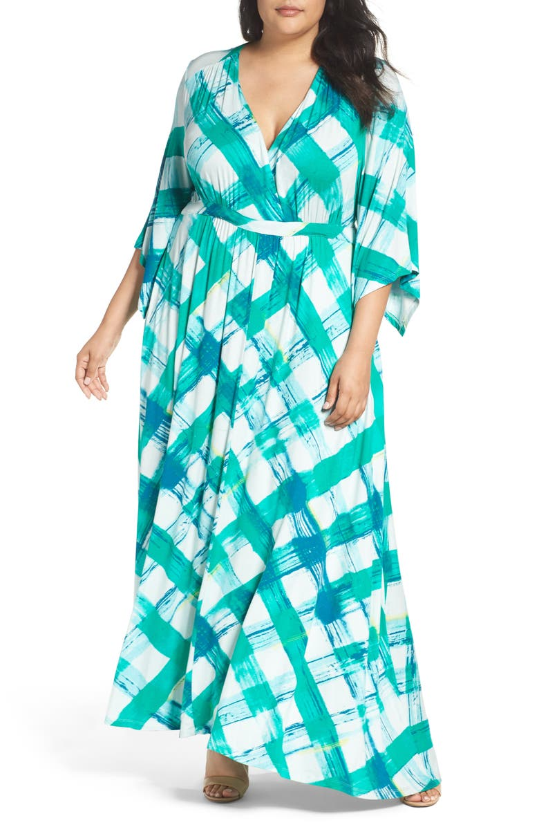 MELISSA MCCARTHY SEVEN7 Print Empire Maxi Dress, Main, color, 300