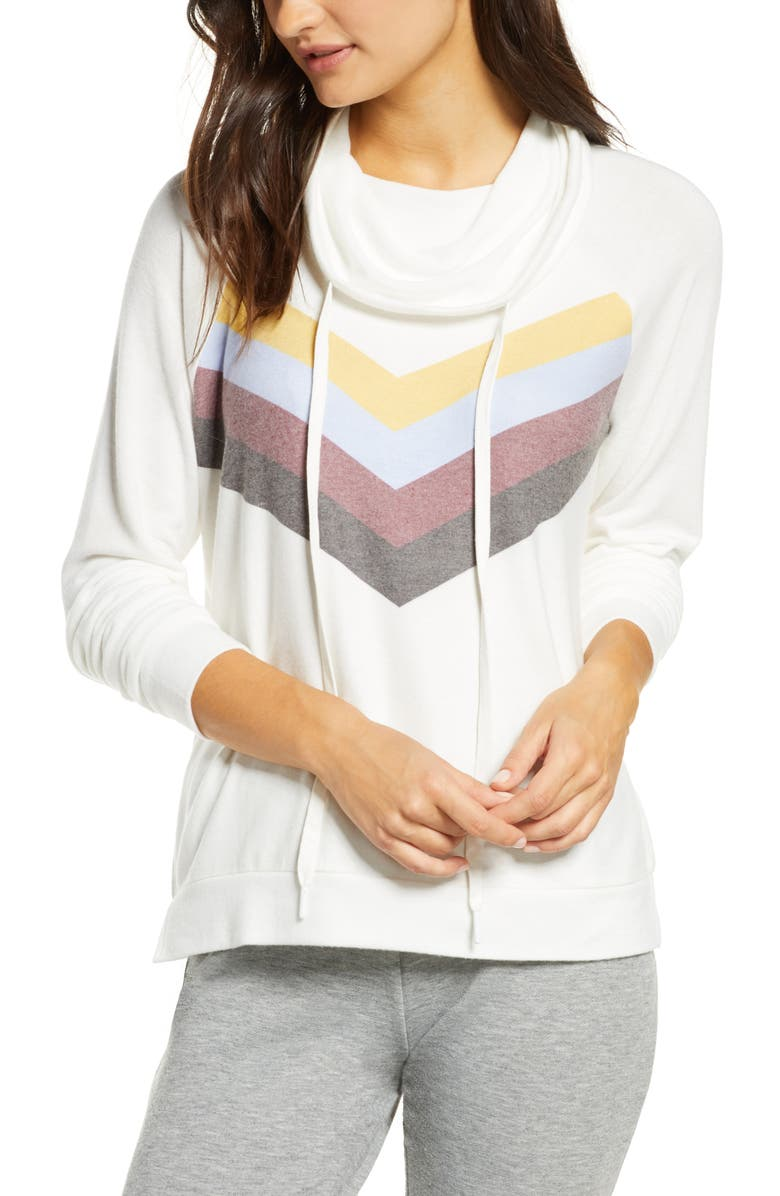 PJ SALVAGE Peachy Lounge Hoodie, Main, color, 909