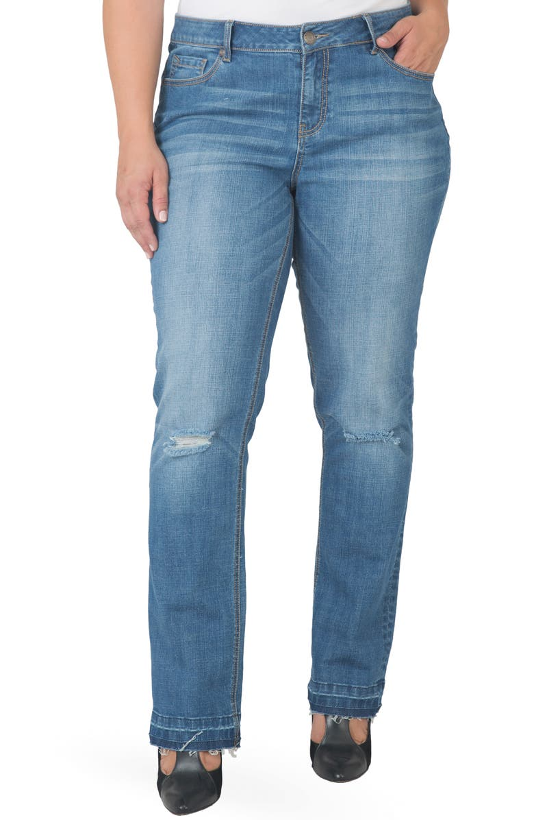 STANDARDS & PRACTICES High Waist Straight Leg Jeans, Main, color, 3178DARKBLUE