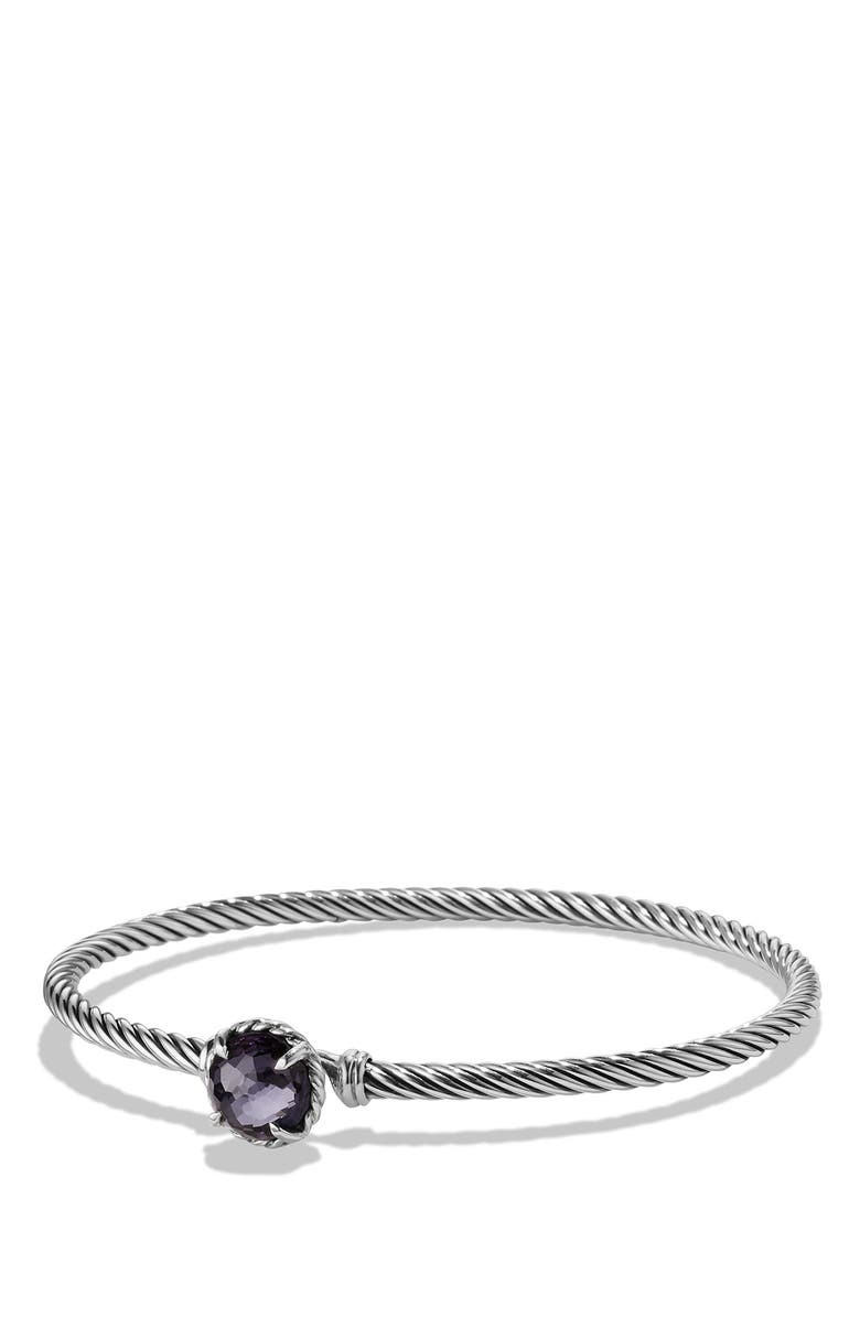 DAVID YURMAN 'Color Classics' Bangle Bracelet, Main, color, BLACK ORCHID