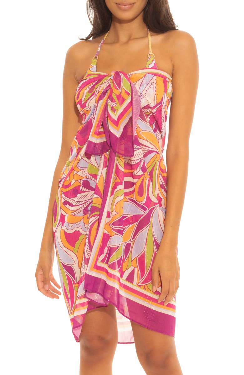 BECCA Psychedelica Cover-Up Sarong, Main, color, MULTI