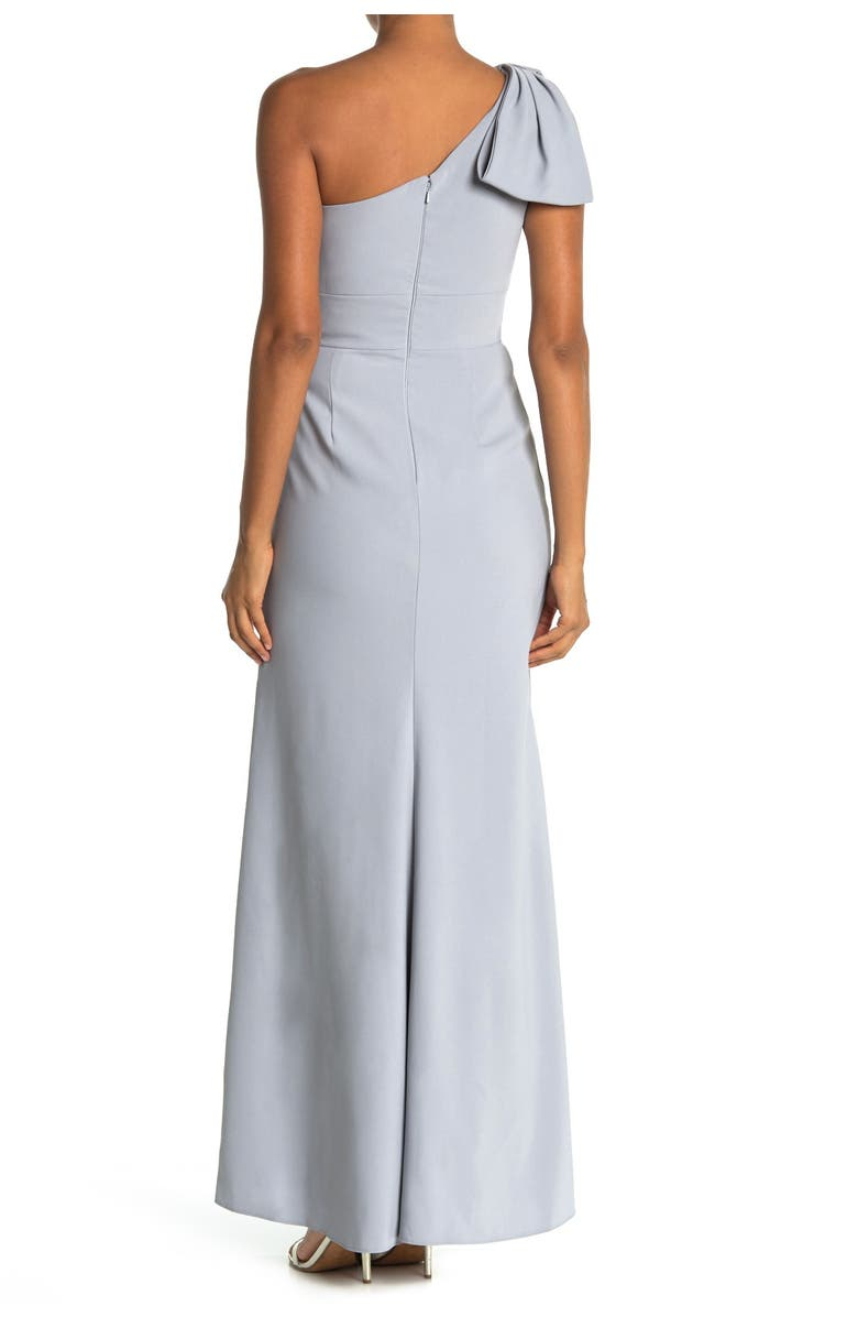 AFTER SIX Bow One-Shoulder Trumpet Gown, Main, color, 032