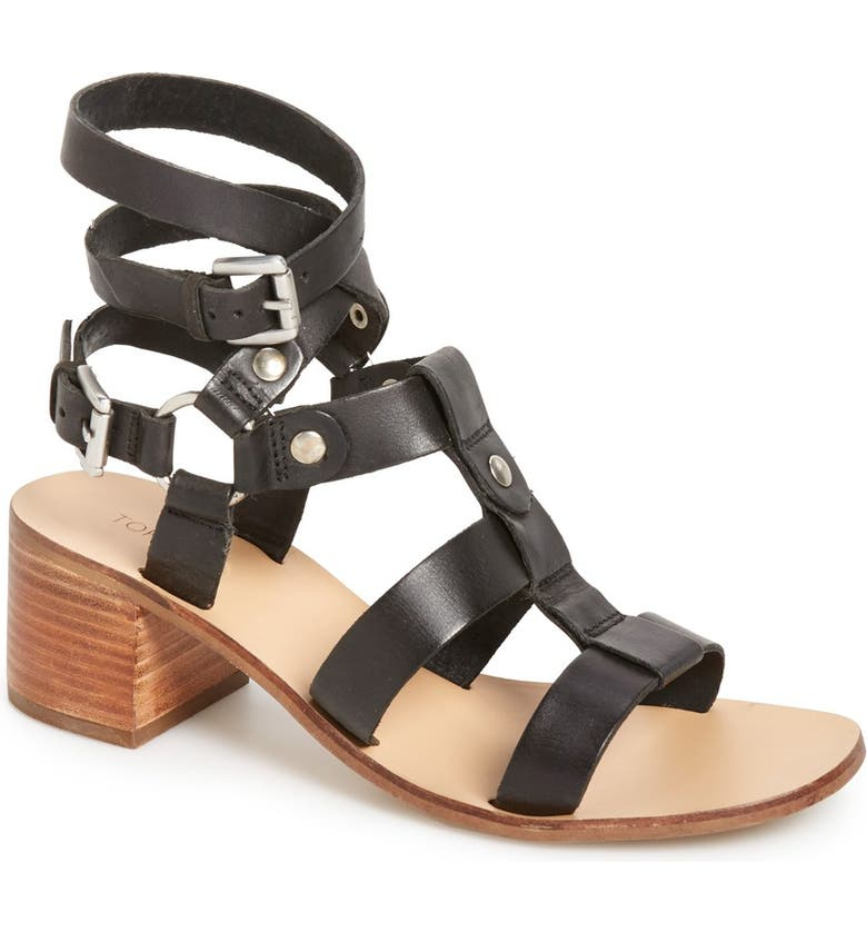TOPSHOP 'Valley' Gladiator Sandal, Main, color, 001