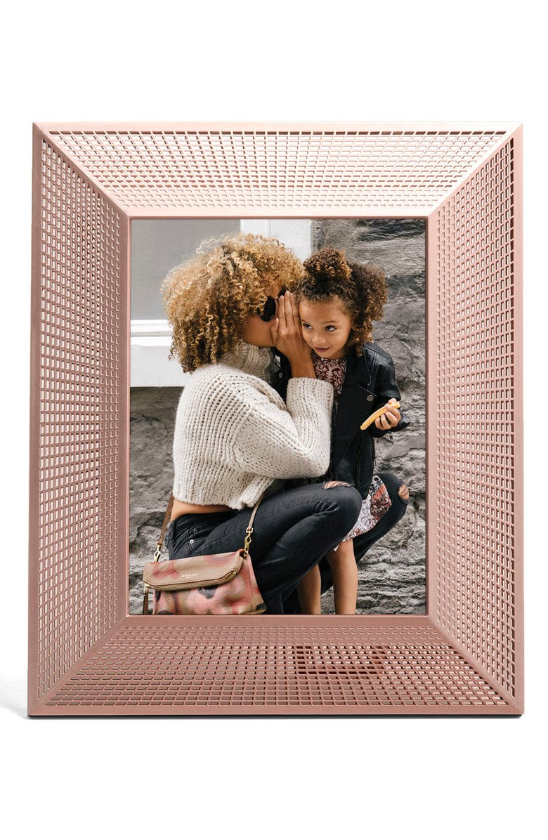 AURA Smith Digital Picture Frame, Main, color, BRASS