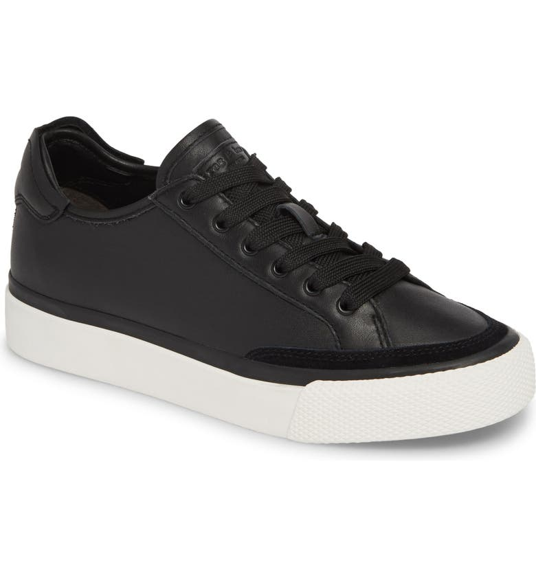 RAG AND BONE Army Low Top Sneaker, Main, color, BLACK LEATHER