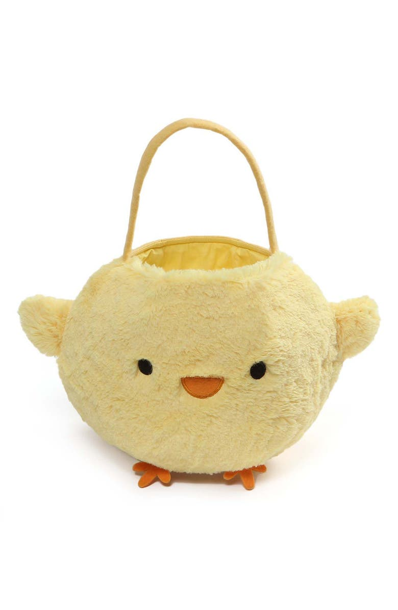 GUND Baby Chick Plush Easter Basket, Main, color, Yellow