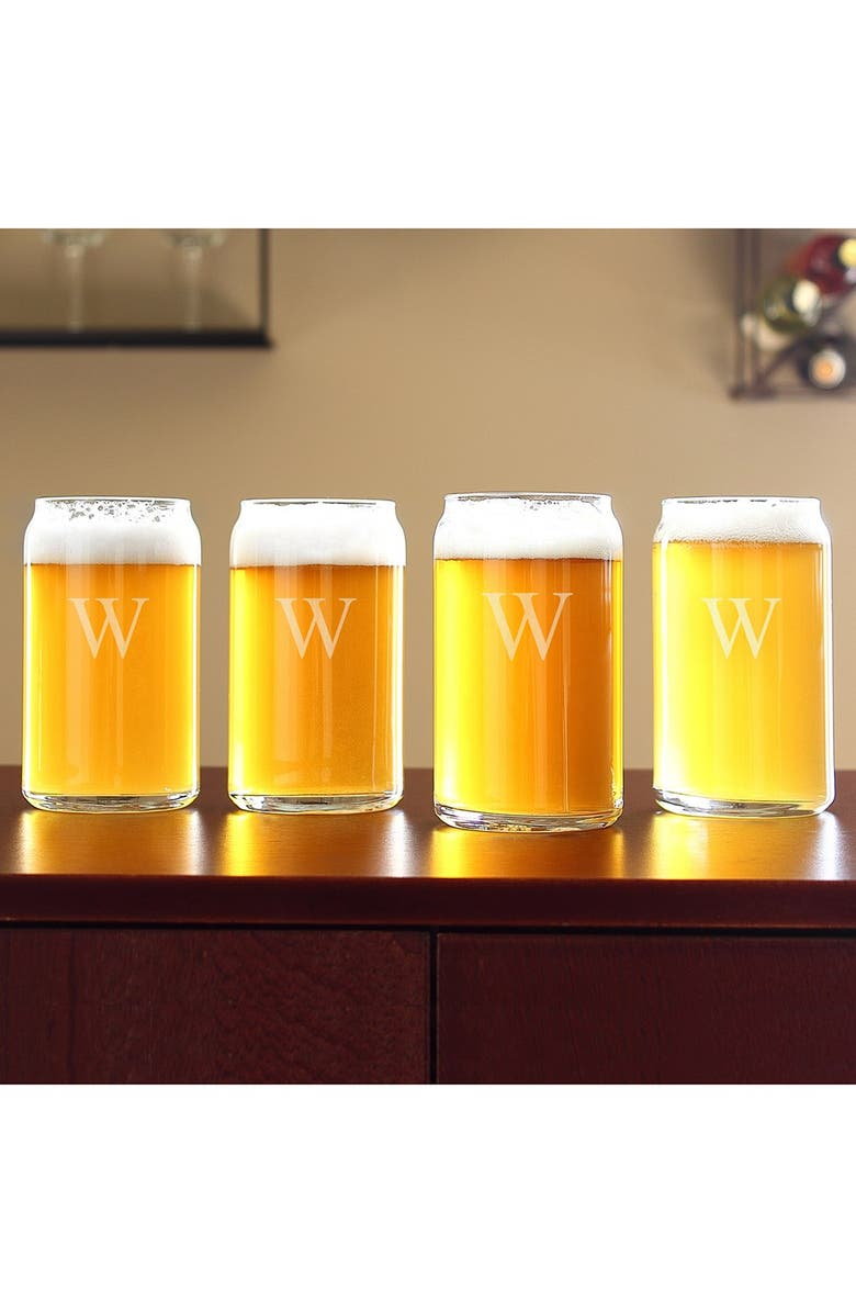 CATHY'S CONCEPTS Personalized Craft Home Brew Can Glasses, Main, color, 102