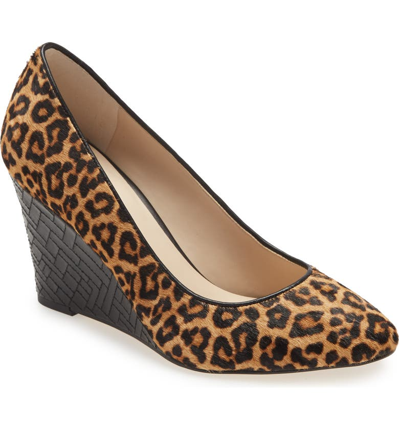 COLE HAAN Marit Genuine Calf Hair Wedge Pump, Main, color, LEOPARD PRINT CALF HAIR