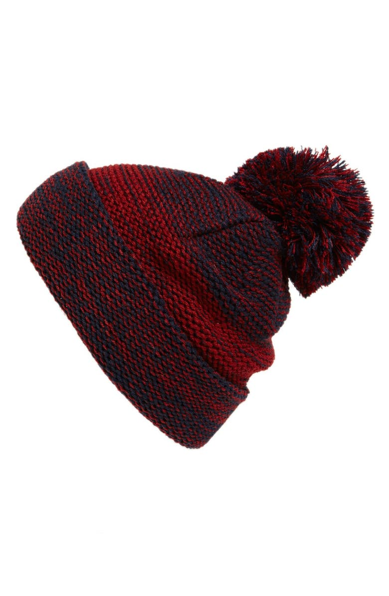 BP. Knit Two Tone Beanie, Main, color, 410