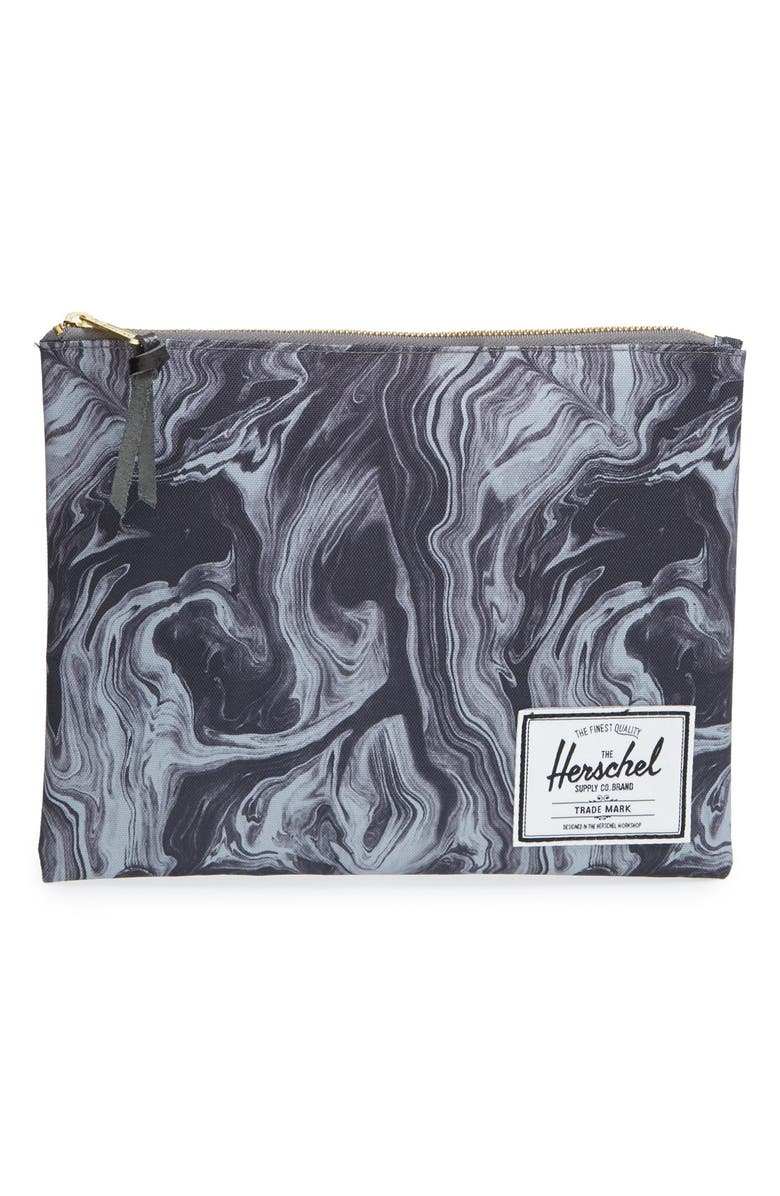 HERSCHEL SUPPLY CO. 'Network - Large' Canvas Pouch, Main, color, 010