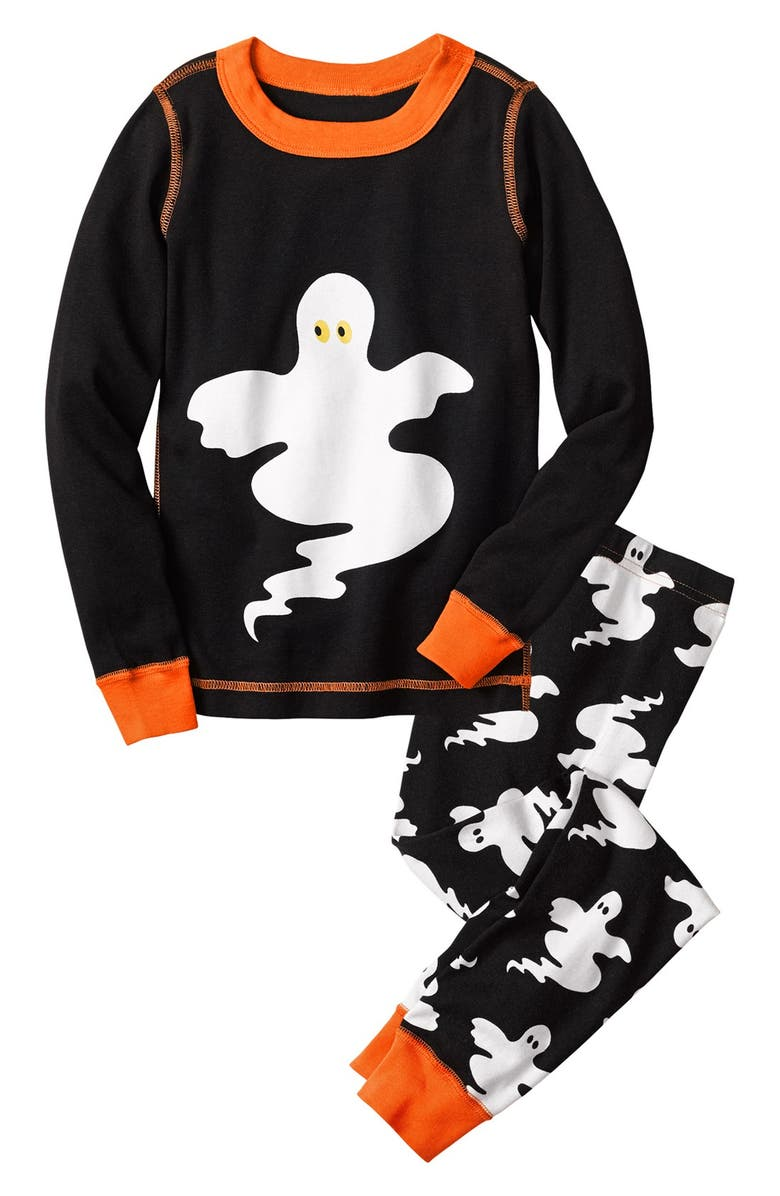 HANNA ANDERSSON 'Halloween' Fitted Two Piece Fitted Pajamas, Main, color, 003