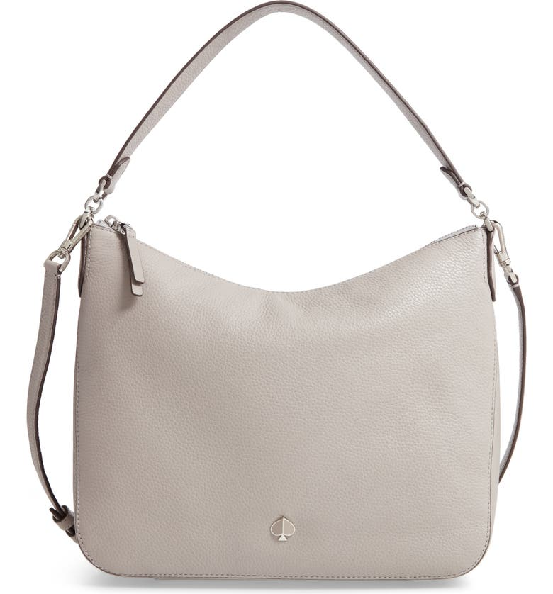 KATE SPADE NEW YORK medium polly leather shoulder bag, Main, color, 023