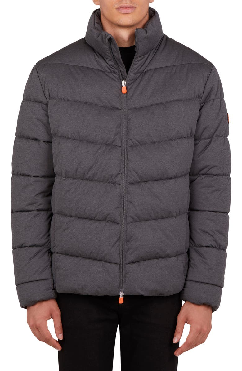 SAVE THE DUCK Waterproof Puffer Jacket, Main, color, CHARCOAL GREY MELANGE