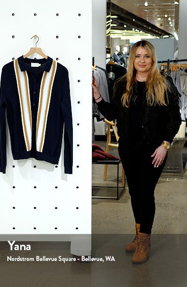 Stripe Button-Up Sweater, sales video thumbnail