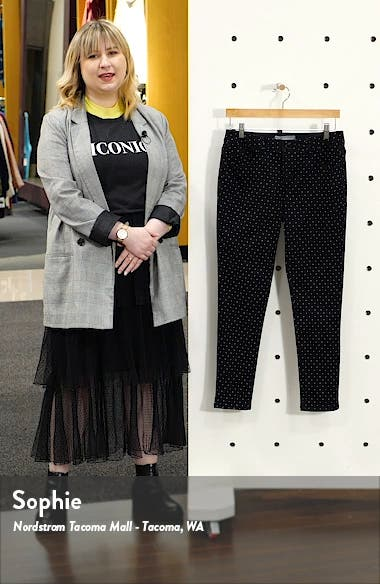 Ab-Solution High Waist Polka Dot Ankle Skinny Pants, sales video thumbnail