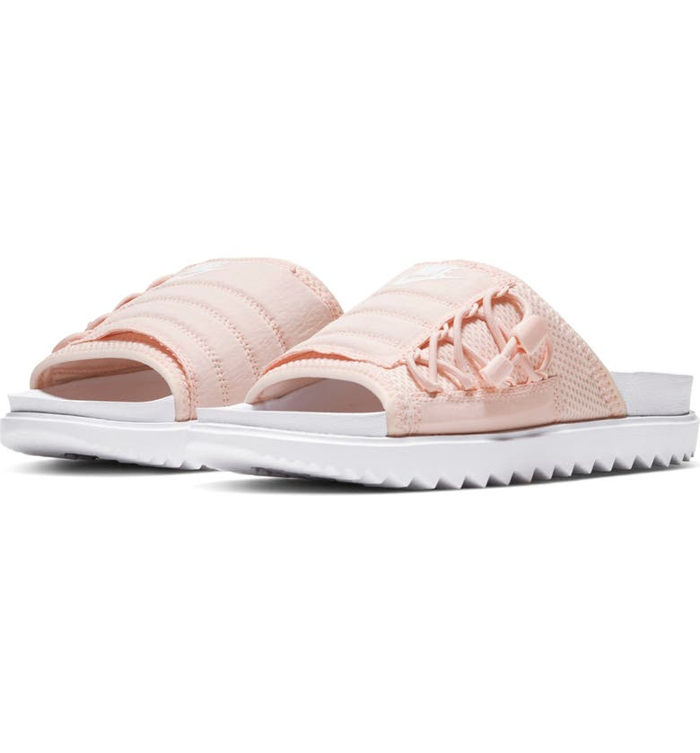 NIKE Asuna Slide Sandal, Main, color, WHITE/ WHITE/WASHED CORAL