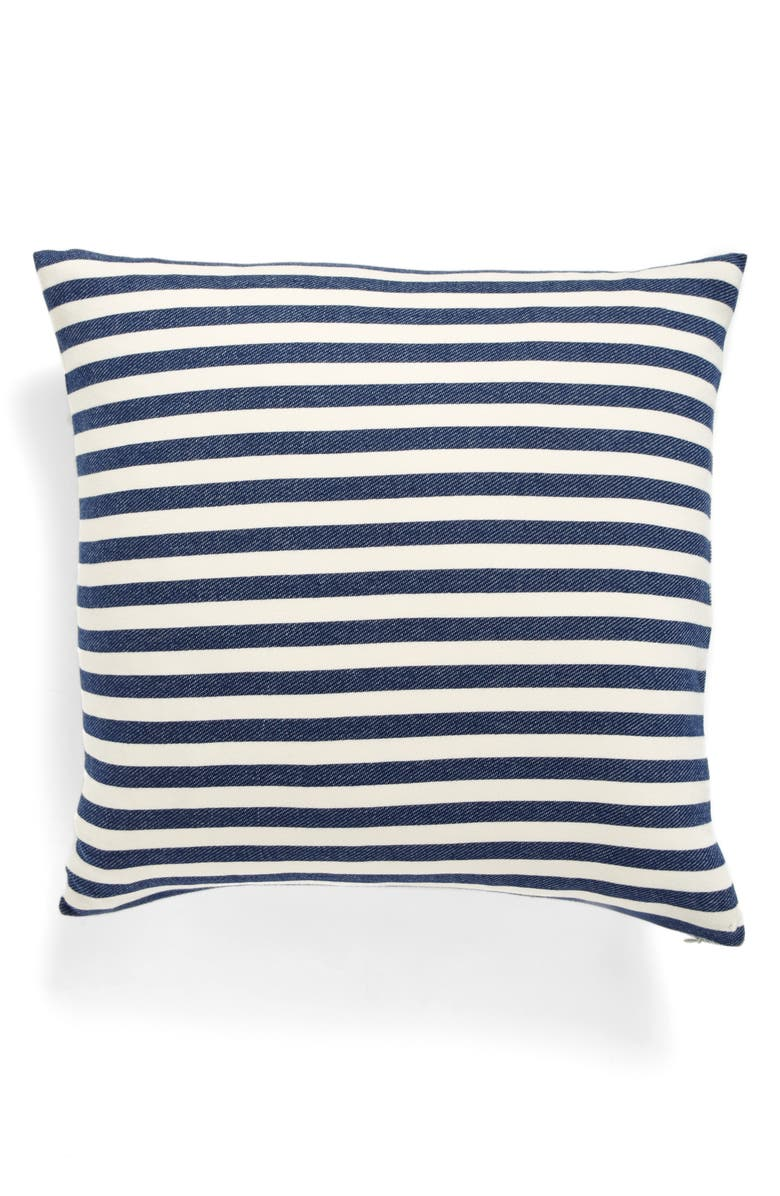 NORDSTROM at Home Reversible Stripe Accent Pillow, Main, color, 410