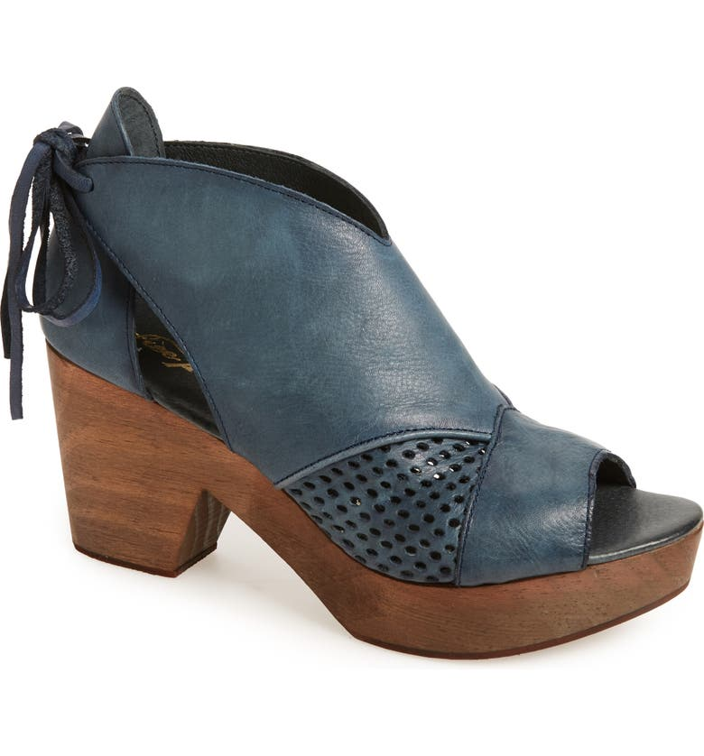 FREE PEOPLE Revolver Open-Toe Clog, Main, color, CHARCOAL LEATHER
