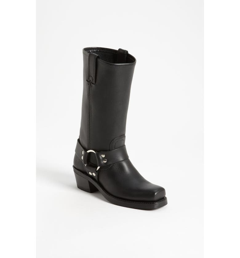 FRYE 'Harness 12R' Leather Boot, Main, color, BLACK