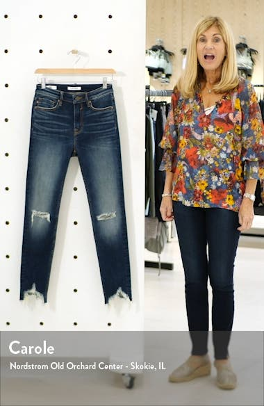 Distressed High Waist Ankle Skinny Jeans, sales video thumbnail