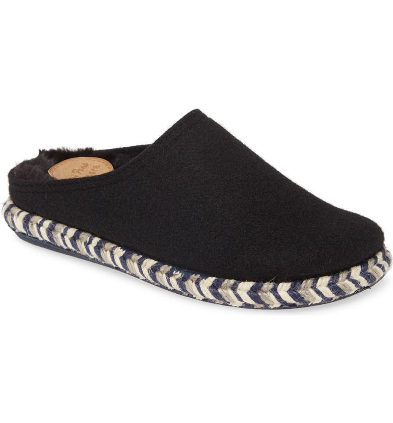 TONI PONS Miri Lined Scuff Slipper, Main, color, BLACK WOOL