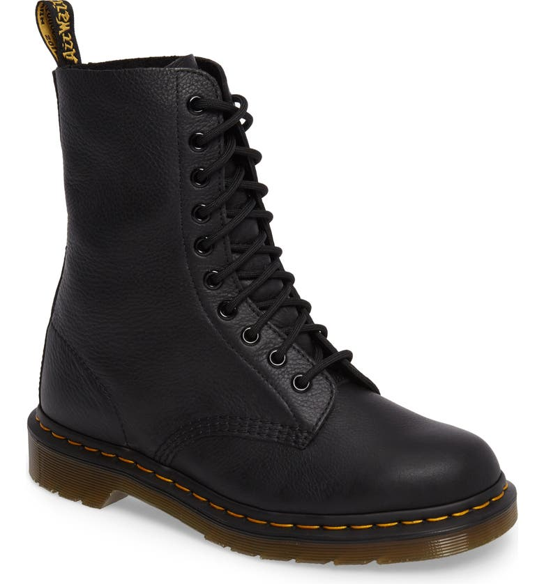 DR. MARTENS 1490 Lace-Up Boot, Main, color, BLACK VIRGINIA LEATHER