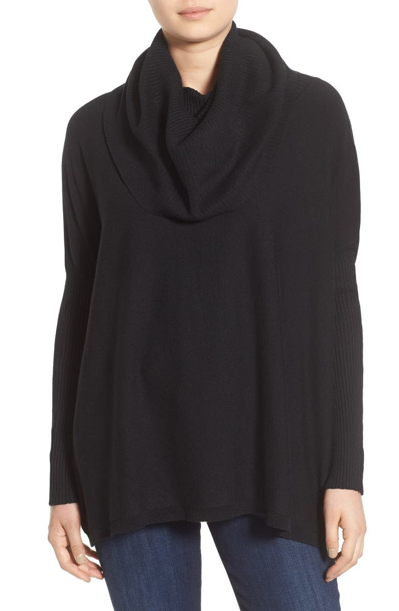 DREAMERS BY DEBUT Cowl Neck Boxy Pullover, Main, color, 001