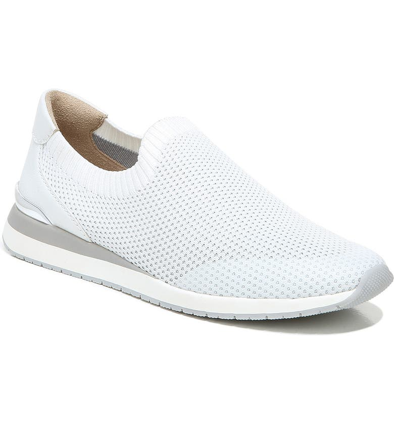 NATURALIZER Lafayette Knit Slip-On Sneaker, Main, color, WHITE FLY KNIT FABRIC