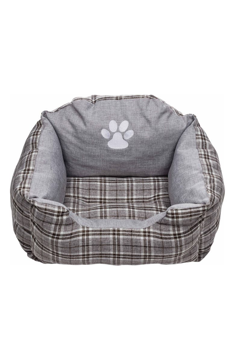 DUCK RIVER TEXTILE Harlee Small Square Pet Bed, Main, color, GREY